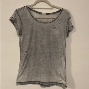 Distressed Grey Tee (GARAGE)